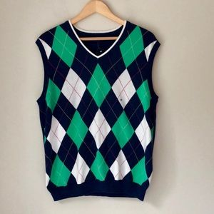 Brooks Brothers Argyle Supima Cotton Sweater Vest